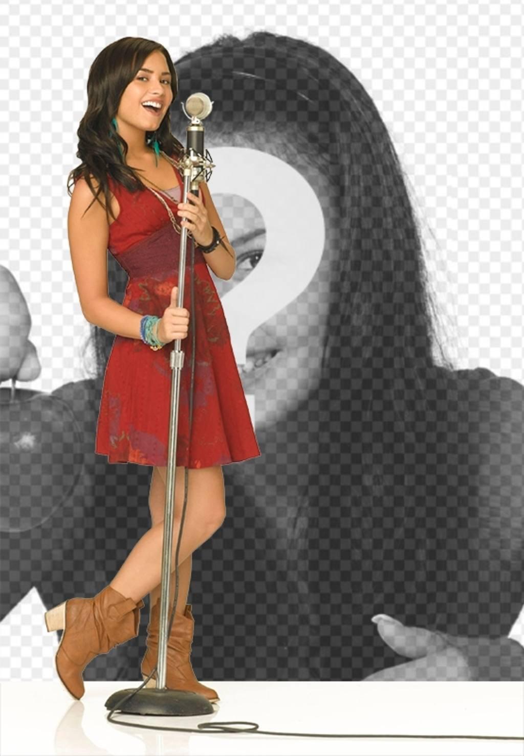 Fotomontagem de Camp Rock 2 com Demi Lovato cantando. Cante junto com Demi