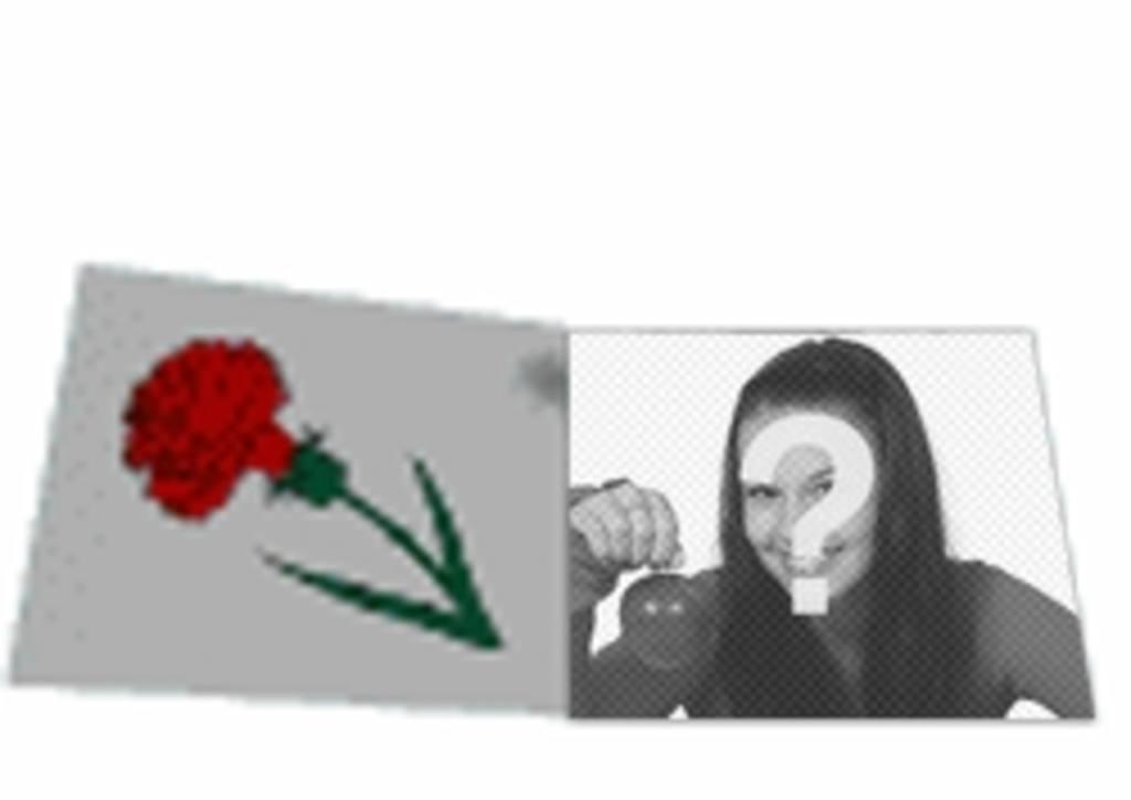 Personalizar animação carta de amor animado com uma rosa. Com sua foto