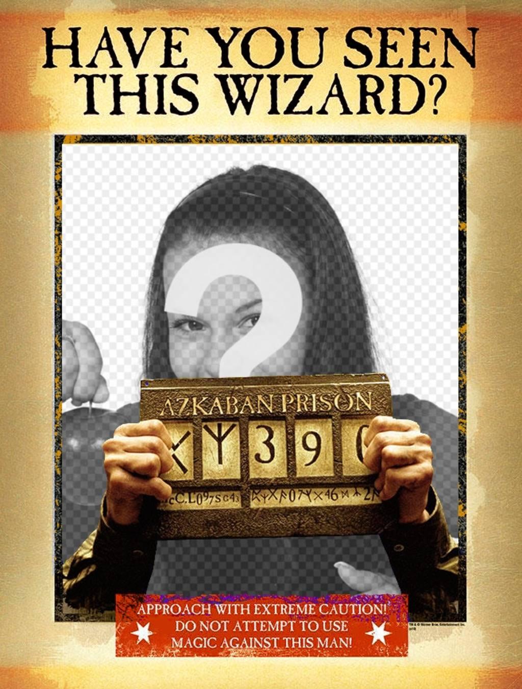 A montagem de um cartaz para sua versão mago prisão