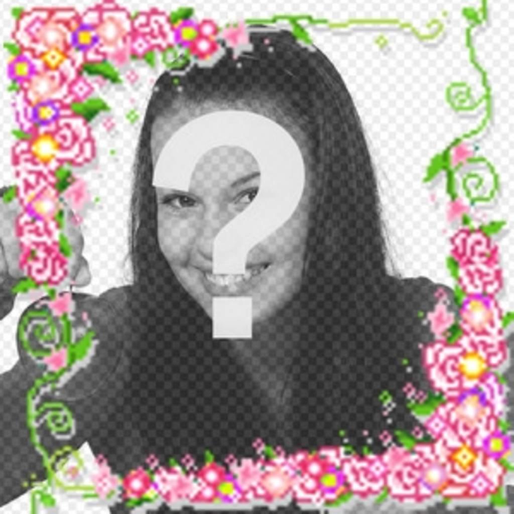 Animação de rosas e luzes que você pode fazer com sua foto