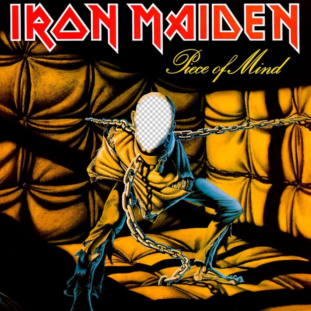 Fotomontagem de capa do CD do Iron Maiden para adicionar o seu rosto