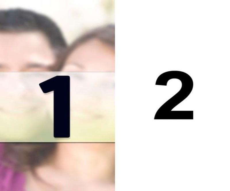 Faça colagem de duas fotos verticalmente divididas