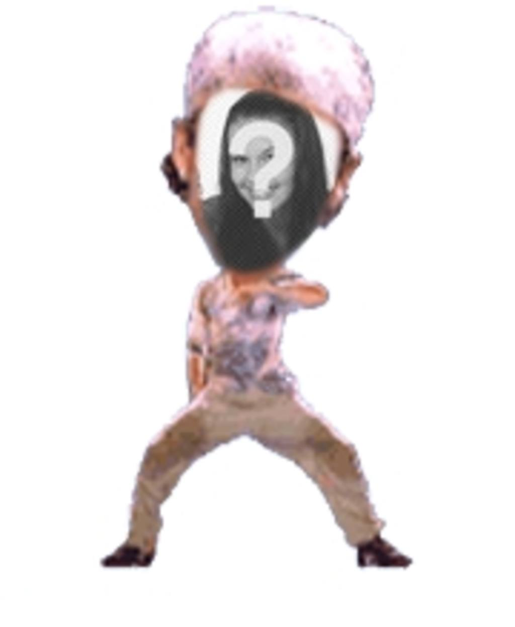 Animação personalizada divertido em que você pode colocar seu rosto em um dançarino fantástico
