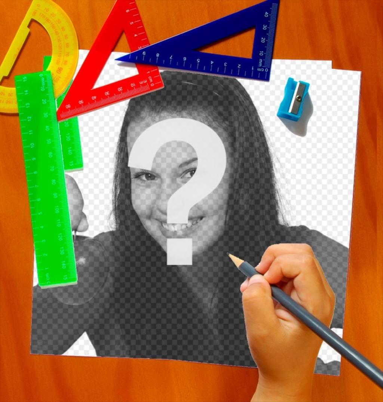 Iframe Escola com a mão pintando um retrato de você