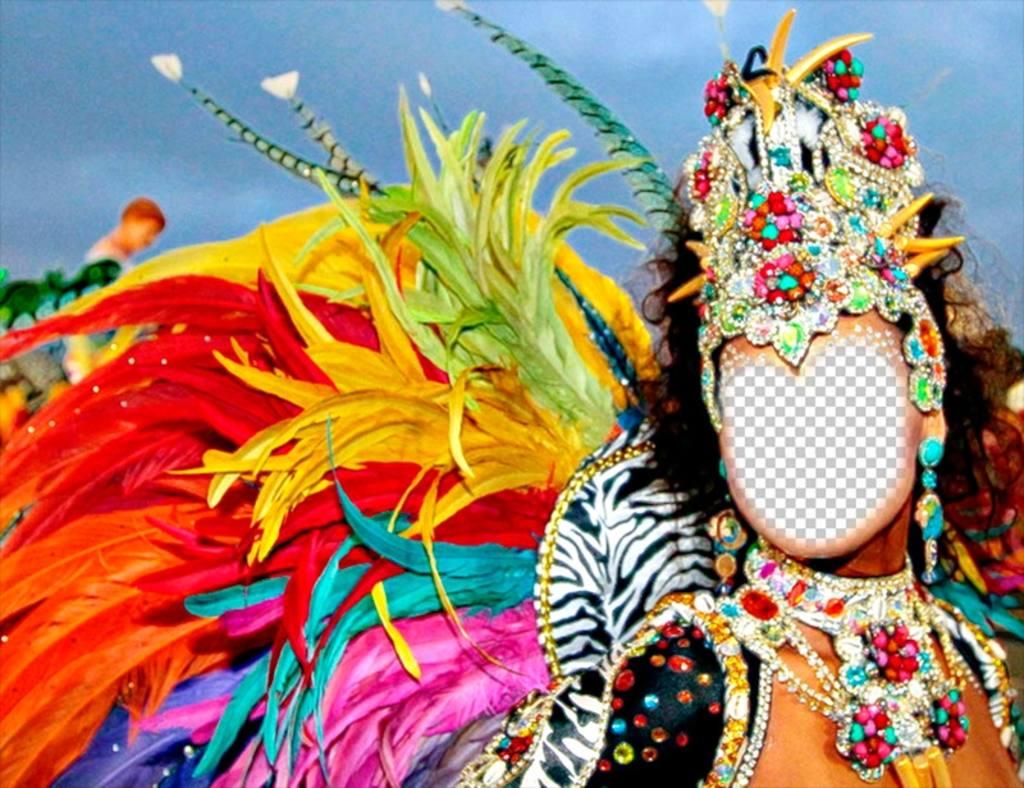 Fotomontagem de um carnaval carnaval para colocar sua foto efeito