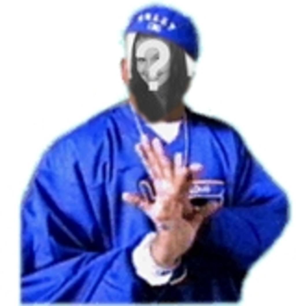 Animação personalizada com sua foto, onde você pode colocar seu rosto em um rapper