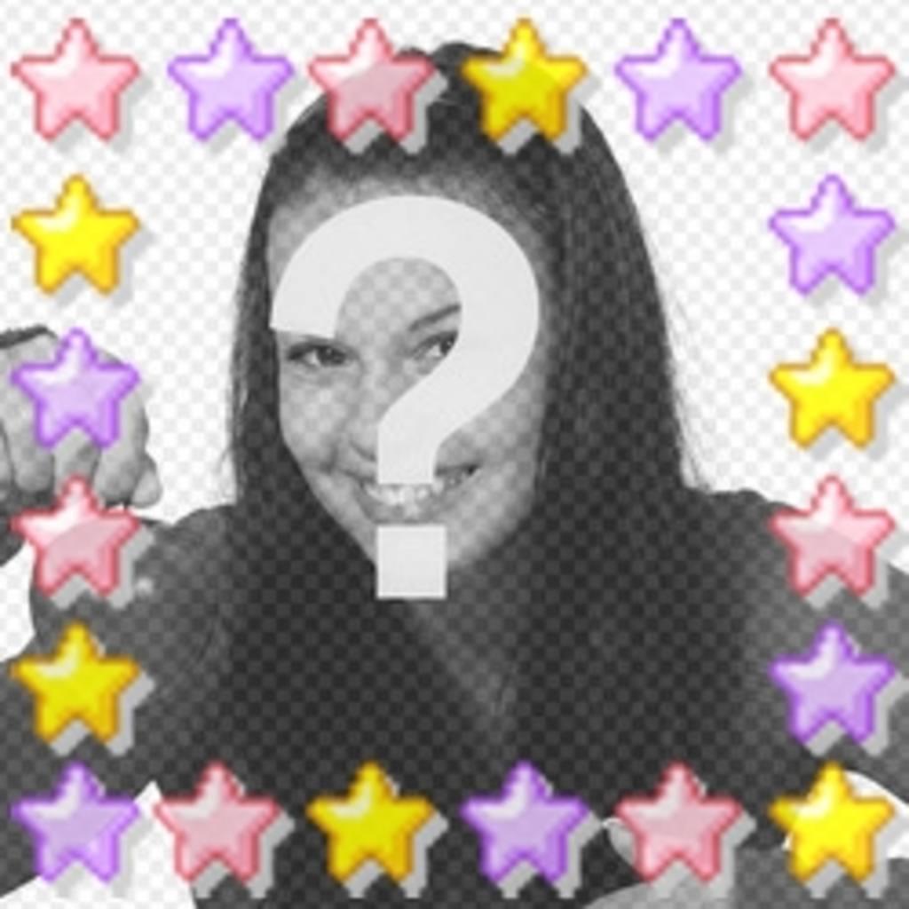Animação de estrelas coloridas personalizáveis com a sua foto, ótimo para o avatar