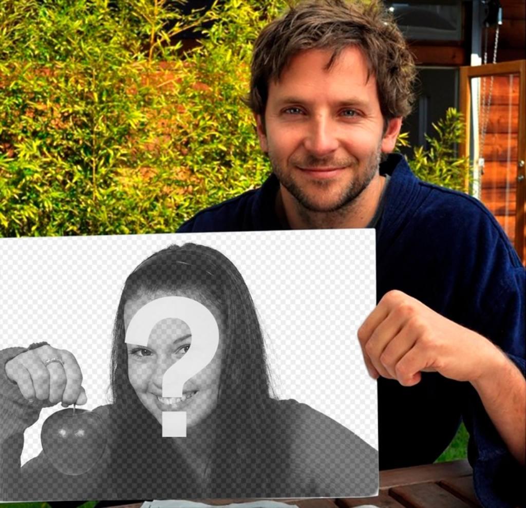 Coloque sua foto neste quadro realizada por Bradley Cooper
