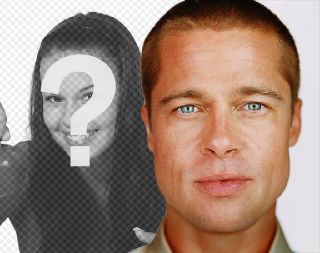 Fotomontagem para suas fotos com Brad Pitt