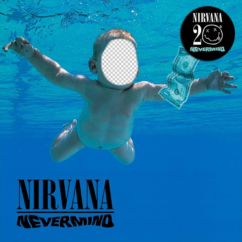 Fotomontagem com a capa do CD do Nirvana para editar