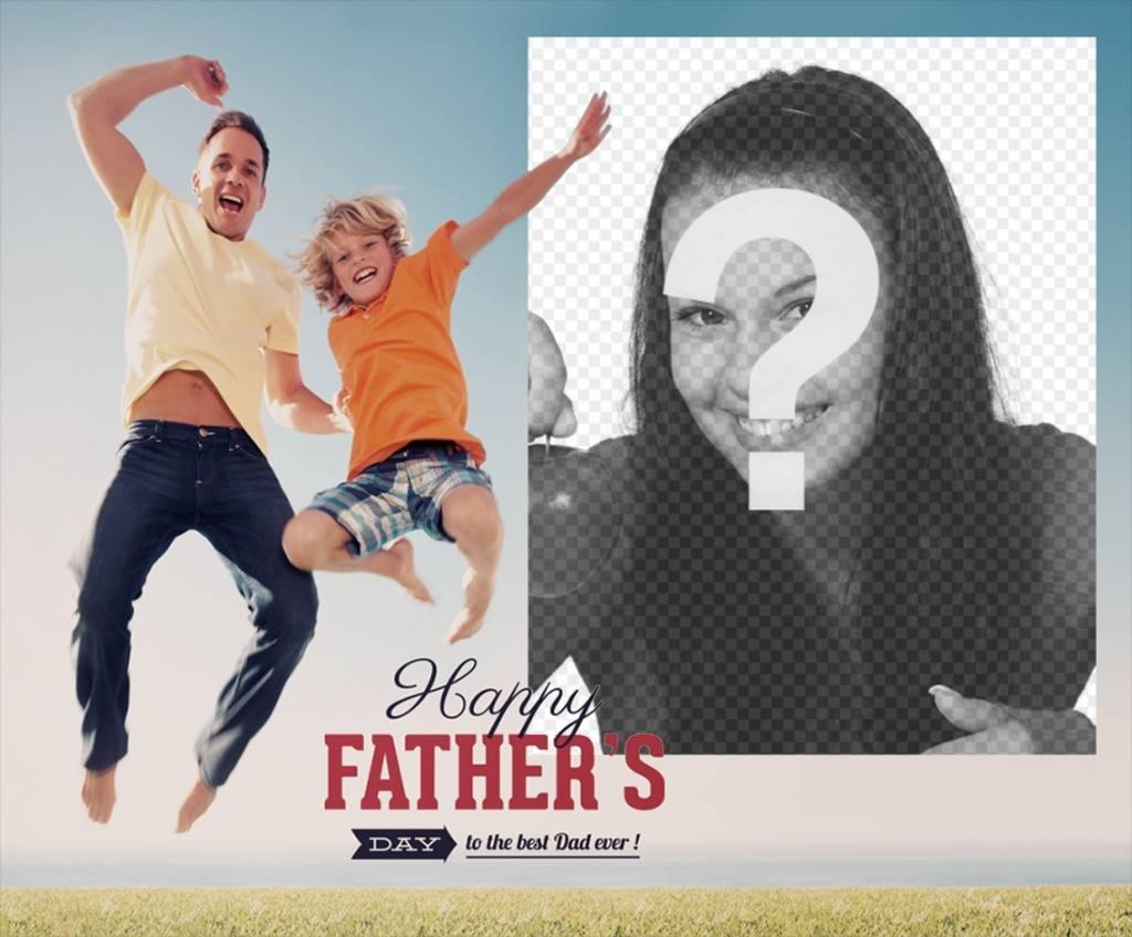 Cartão de Dia dos Pais para personalizar com sua foto