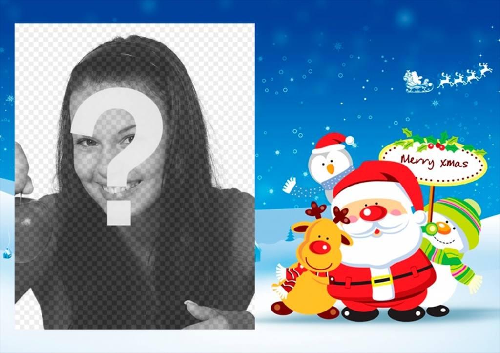 Quadro da foto do Natal para modificar linha