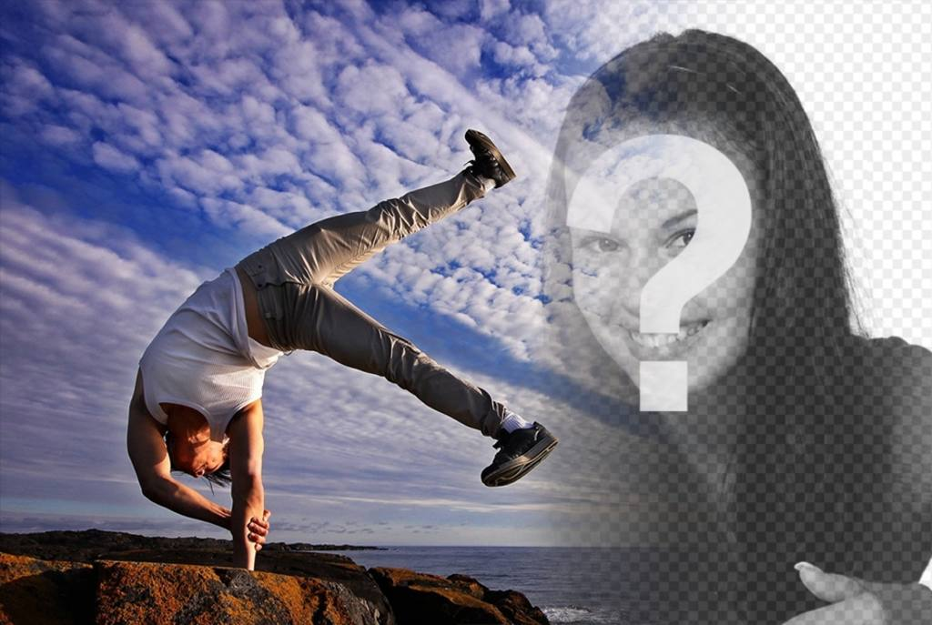 Frases Sobre Equilibrio Corpo E Mente: Fotomontagem De Equilíbrio Entre Corpo E Mente Com Sua