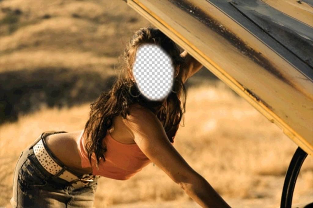 Fotomontagem de Megan Fox em uma cena para adicionar um