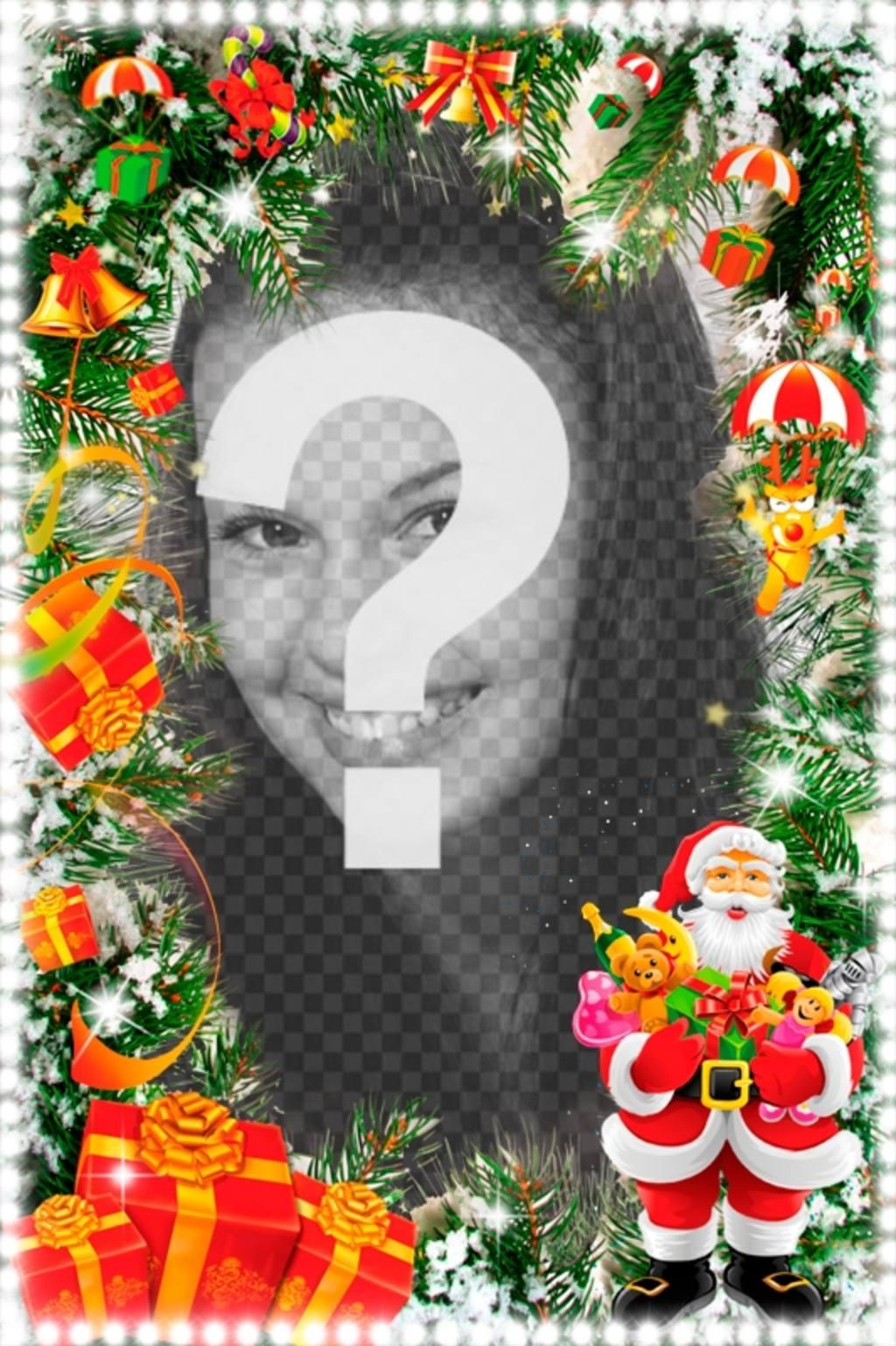 Cartão de Natal Vertical com Santa