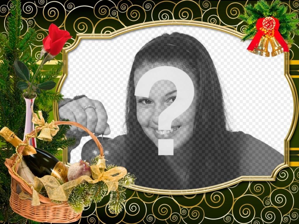 Cartão de Natal para personalizar com sua foto