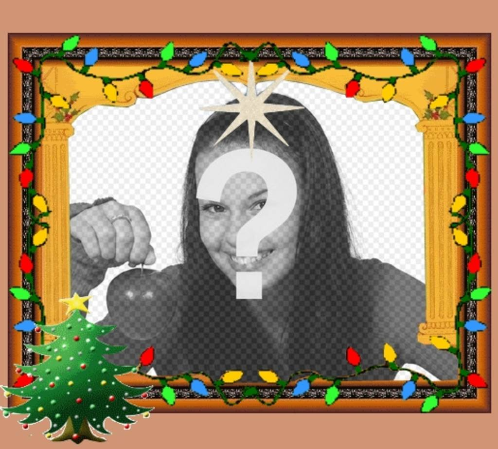 Cartões de Natal animados com luzes