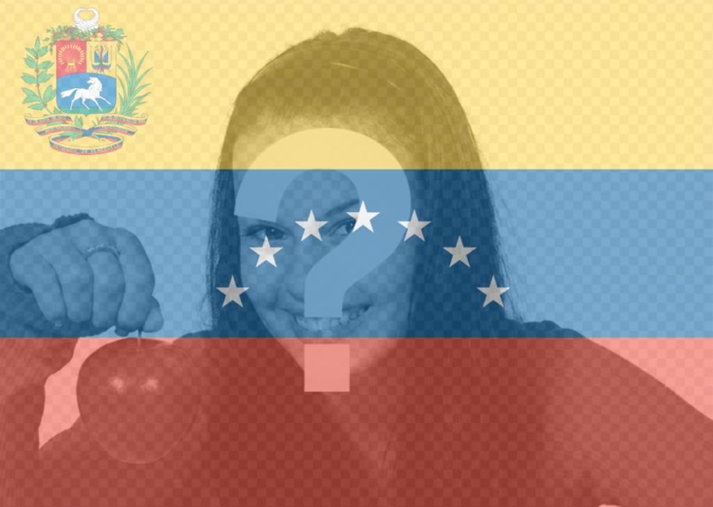 Bandeira de Venezuela com 7 estrelas para sua foto