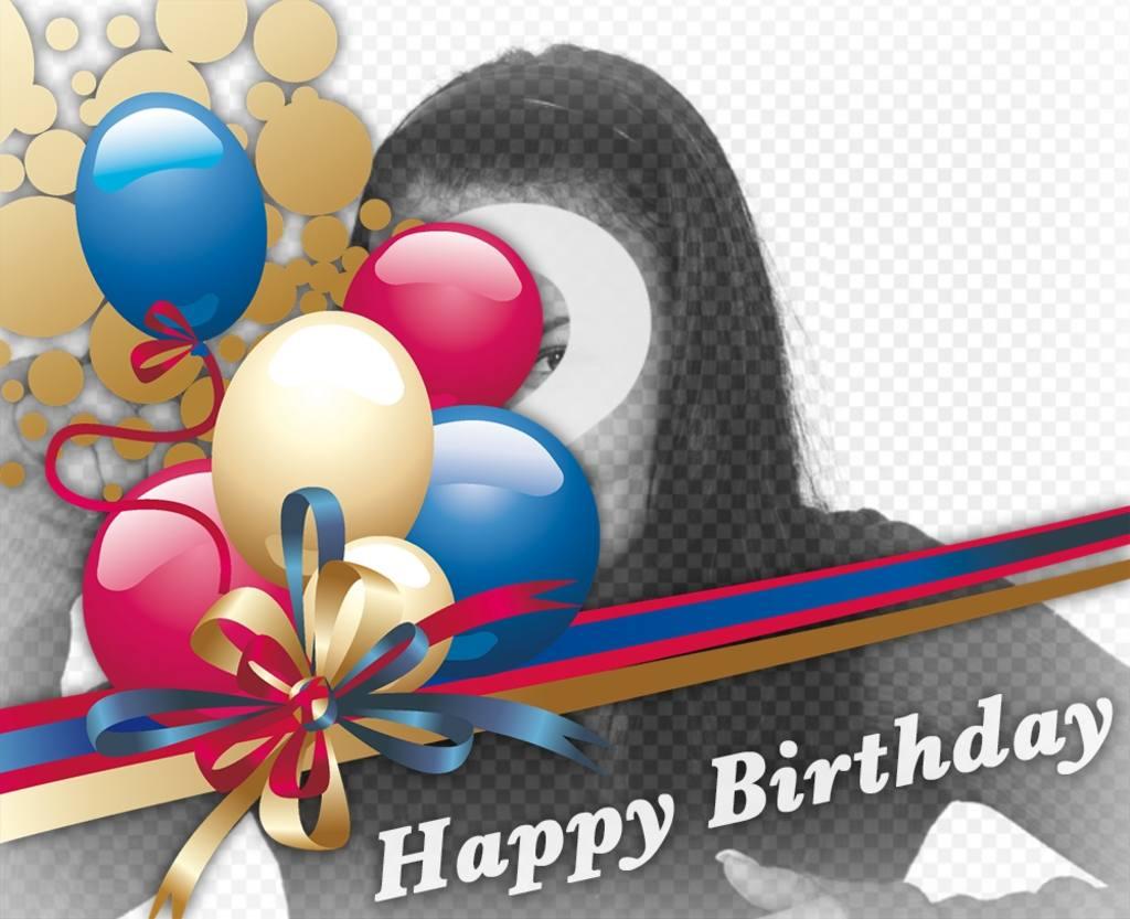 Adicione balões de aniversário para as suas fotos com este efeito
