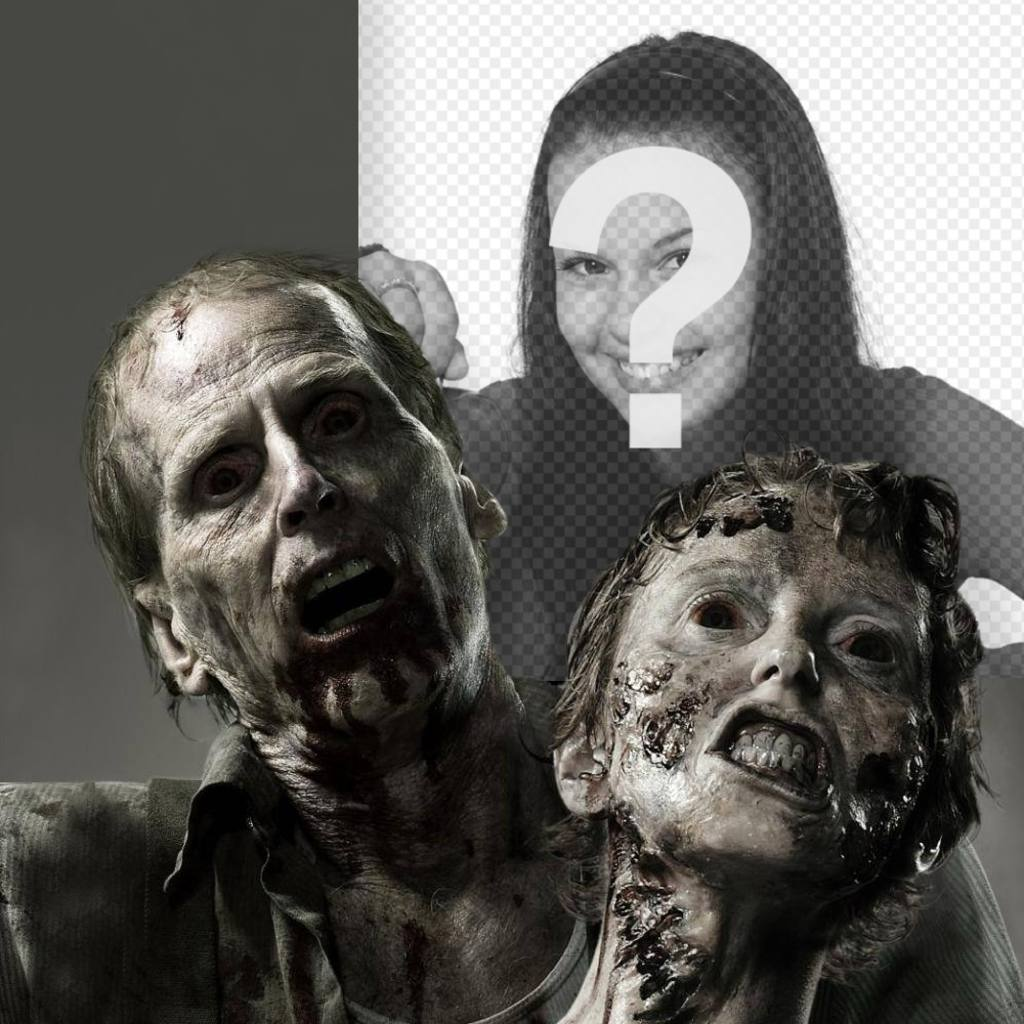 Fotomontagem do terror com zumbis com sua foto
