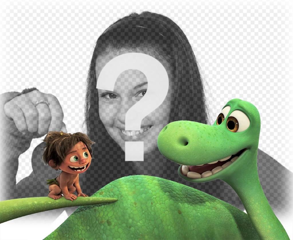 Efeito da foto do filme A Grande Dinosaur a ver com sua foto