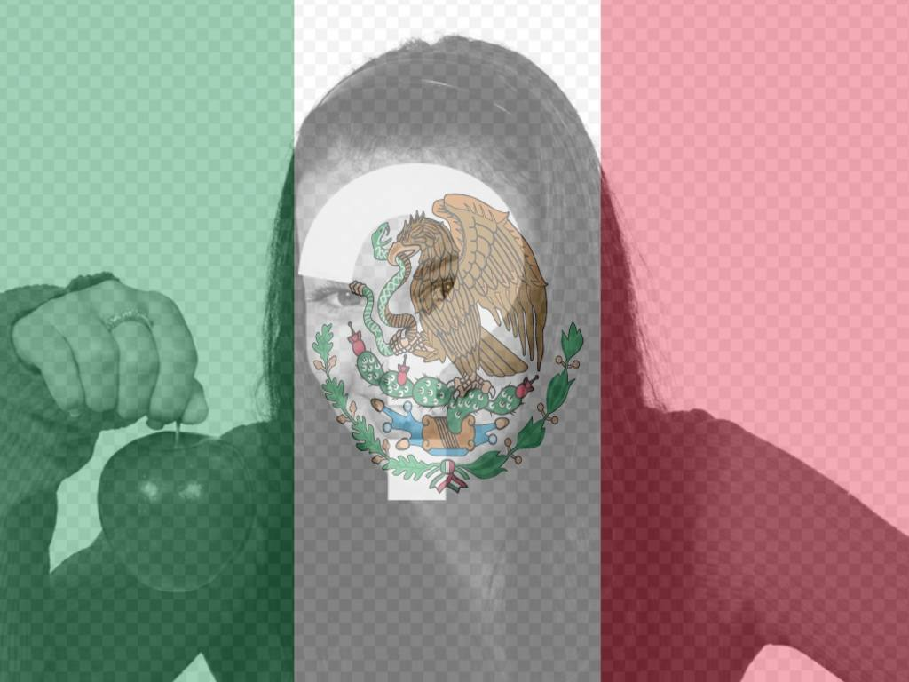 Coloque sua foto junto com a bandeira do México com esta fotomontagem