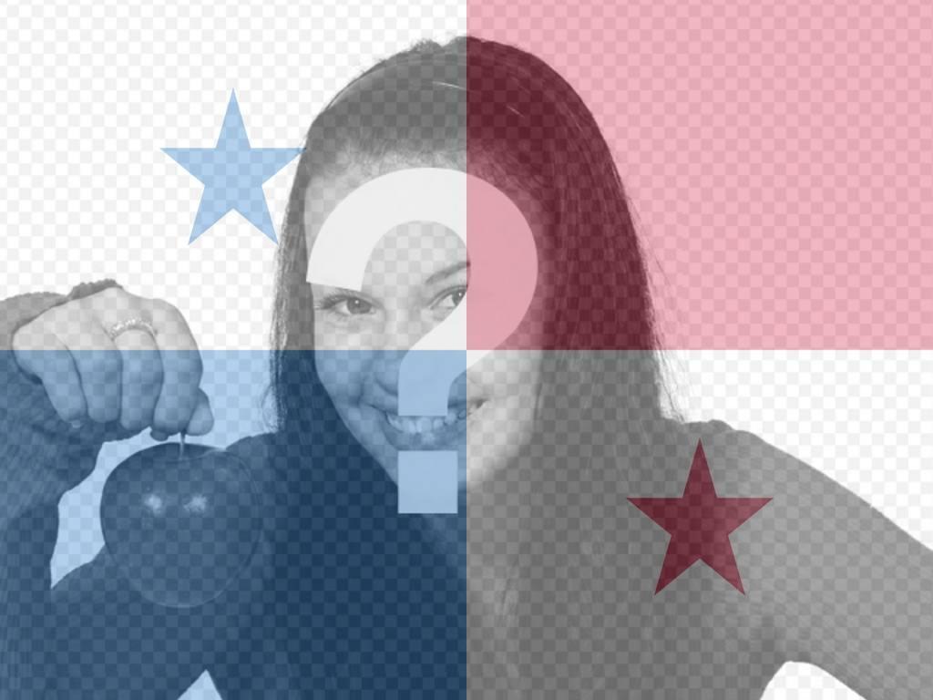 Colagem para colocar a bandeira do Panamá com sua foto online