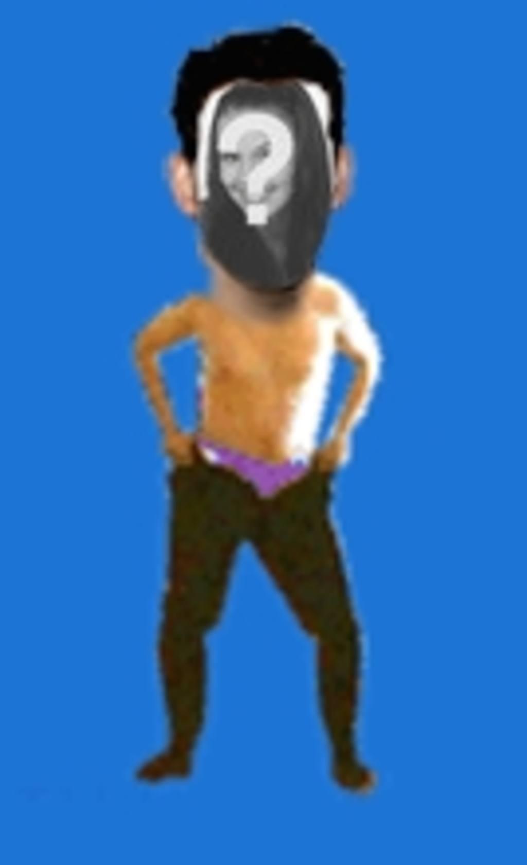 Montagem de fotos animadas em que você colocar um rosto ao corpo de um menino dançando com paixão, as proporções dos desenhos animados