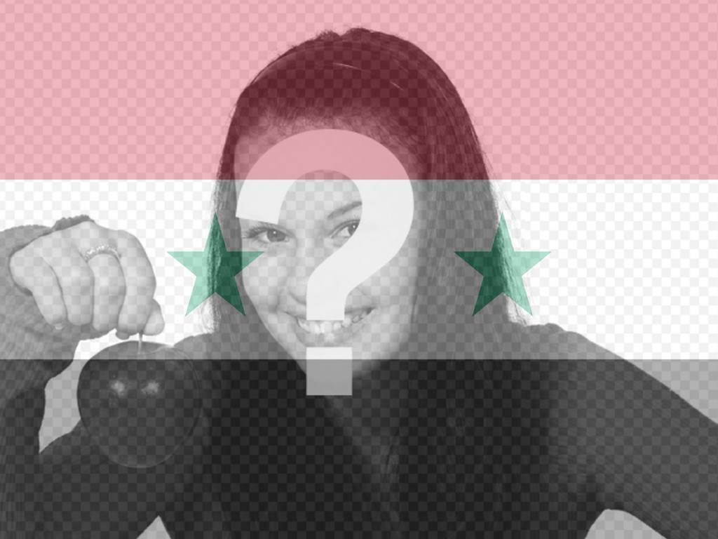 Fotomontagem da bandeira síria para sua foto