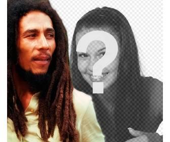 Criar uma fotomontagem com Bob Marley ao seu lado