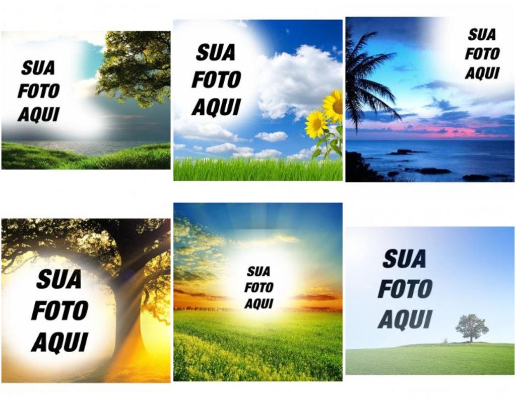 Montagens De Fotos Com Paisagens E Natureza Fotoefeitos