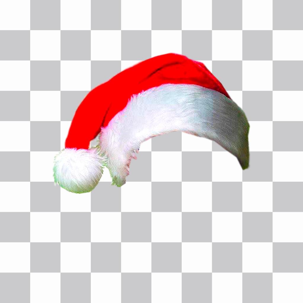 Fotomontagem para colocar um chapéu de Natal na sua foto online