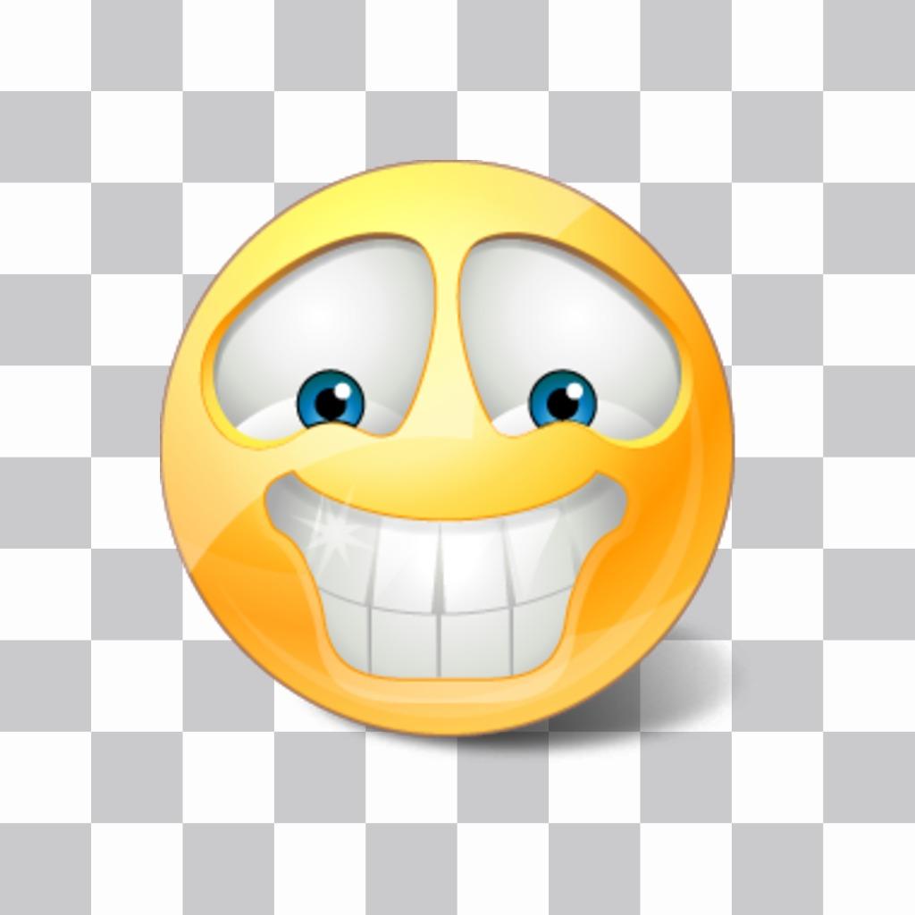 Emoticon do smiley com dentes brancos para suas fotos