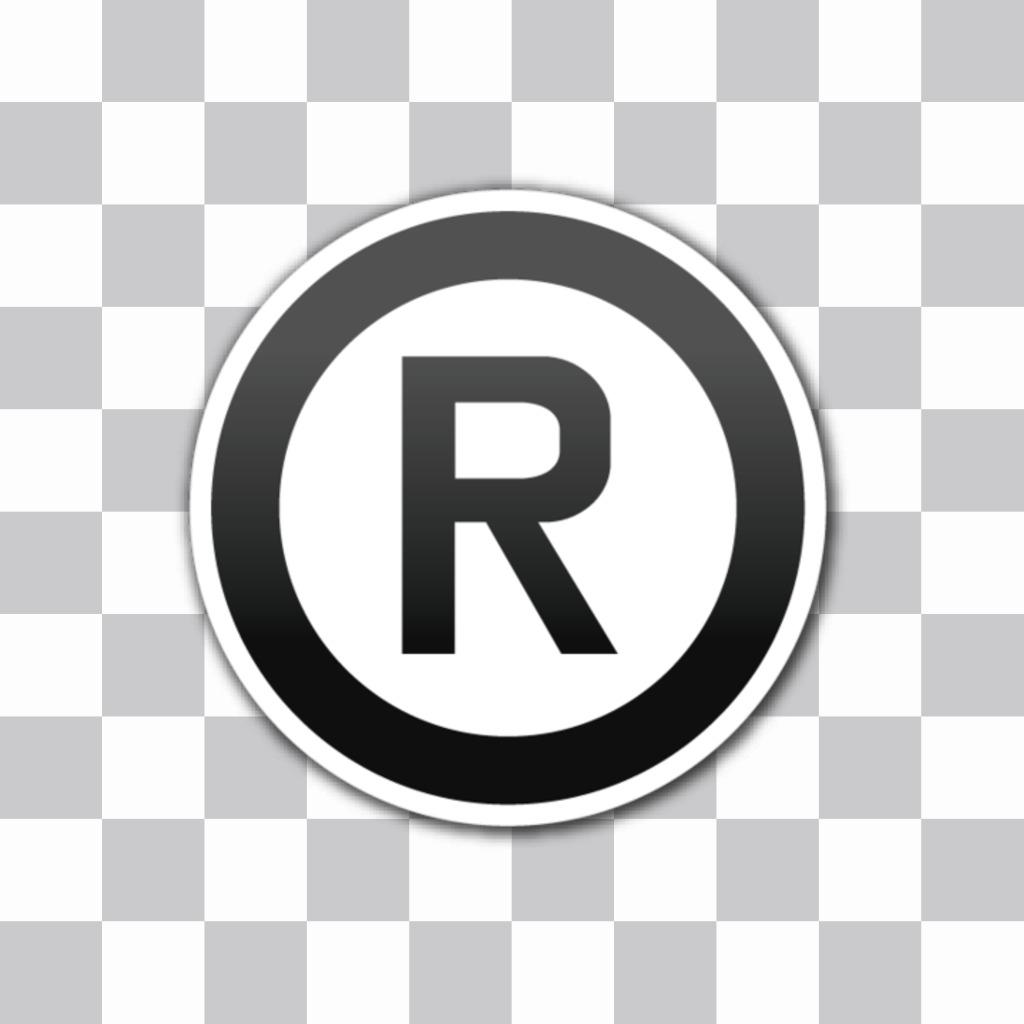 Emoji do símbolo de marca registrada que você pode adicionar uma etiqueta a suas imagens com nosso editor de imagens online