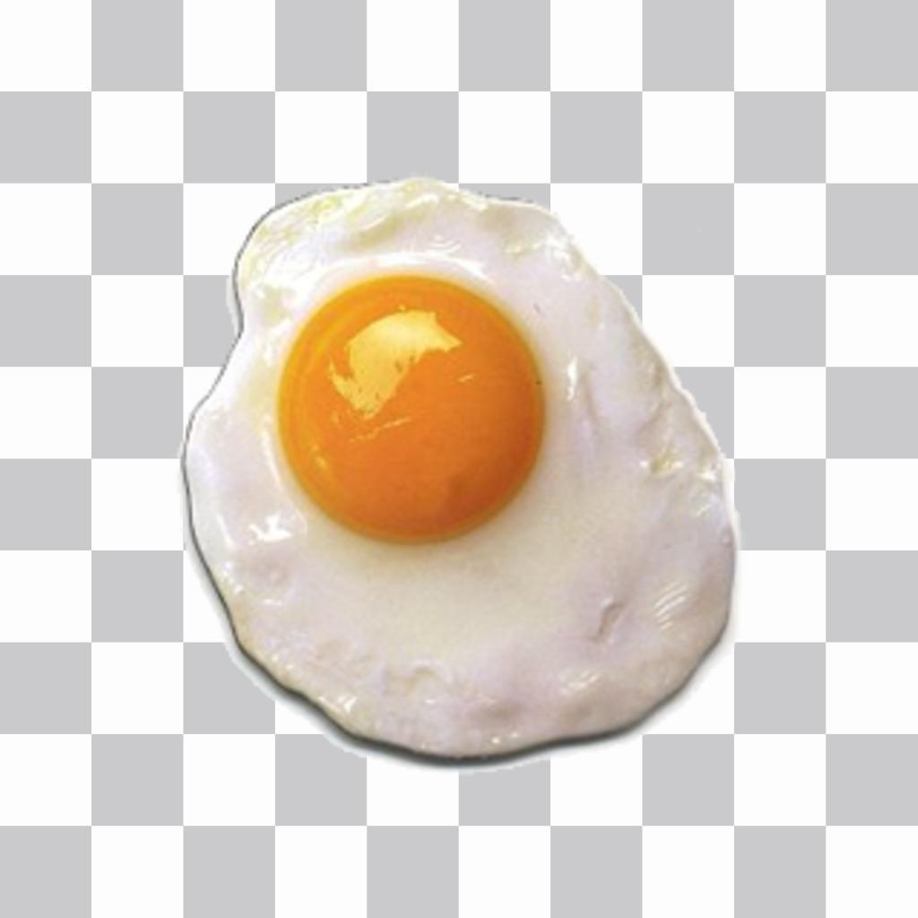 Autocolante Fried para colocar em suas imagens sem a necessidade de baixar qualquer ovo software