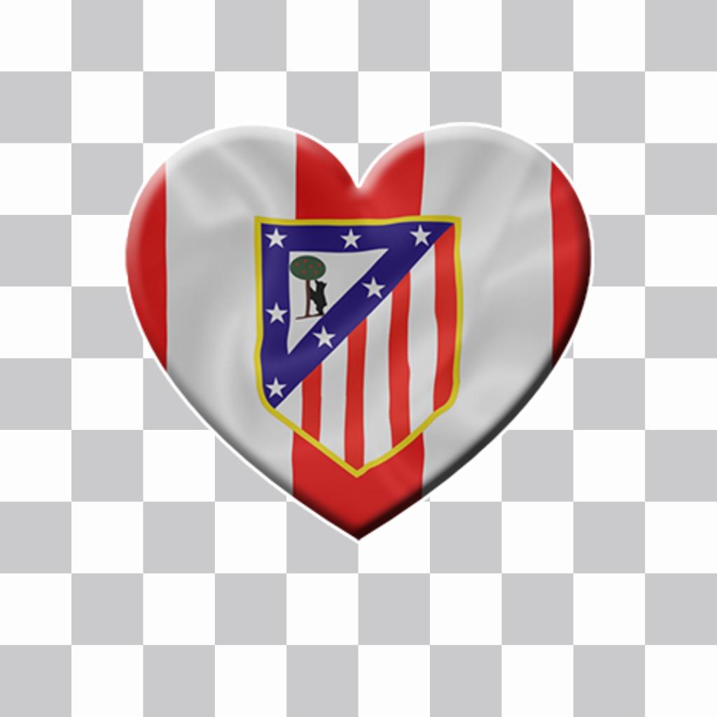 Coloque O Escudo Do Atletico De Madrid Com A Sua Foto Fotoefeitos