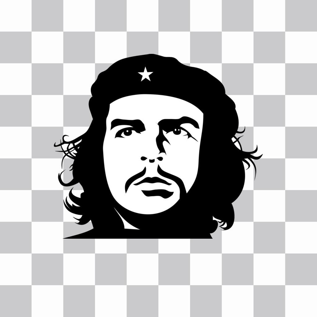 Efeito do rosto de Che Guevaras em preto e branco