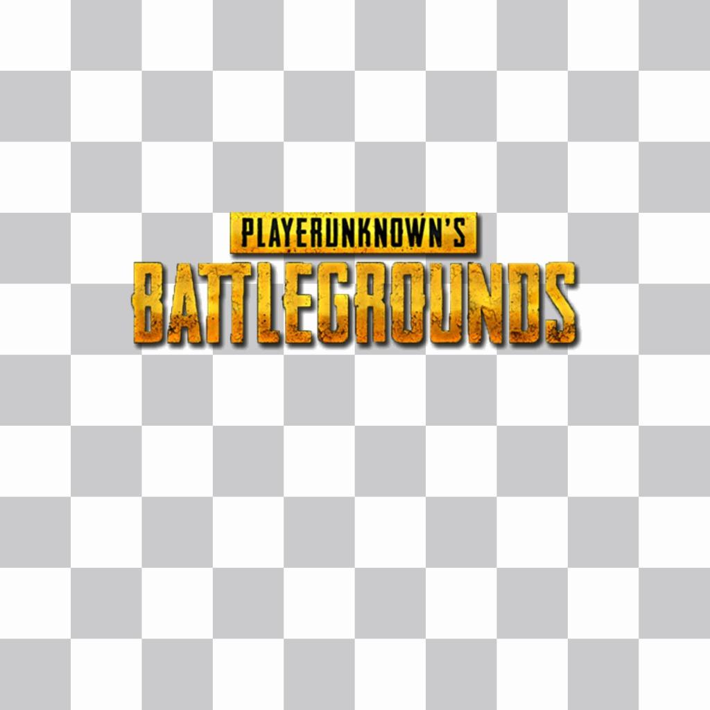Coloque o logotipo do time de batalha Player Unknown na sua foto